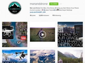 Man and Drone Instagram feed
