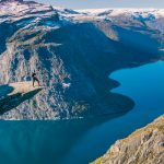 Man And Drone - TrollTunga - Norway