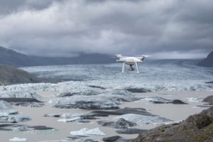 Droning Glaciers in Iceland - Man And Drone