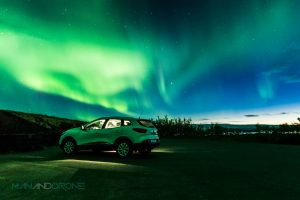 Northern Lights in Iceland Myvtan - Man And Drone