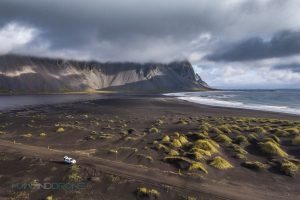 Stokksnes - Iceland - Man And Drone