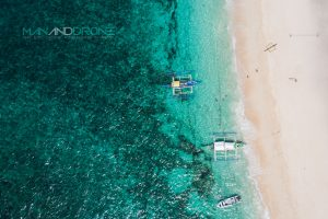 Aerial Drone Shot Boracay Island Philippines