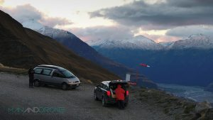 Man And Drone With M.Vettas in Wanaka New Zealand, Windy as Heck.