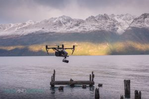 Man And Drone Queenstown New Zealand