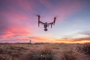 Waipapa Point - New Zealand ( Man And Drone )