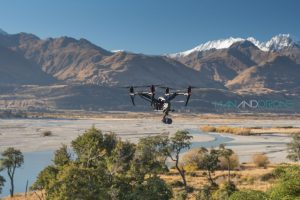 Man And Drone in Glenorchy New Zealand