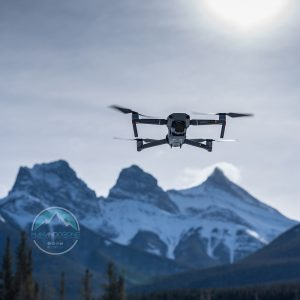 Man And Drone - 3 Sisters Canmore