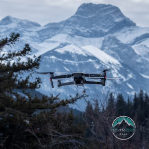 Man And Drone near Canmore